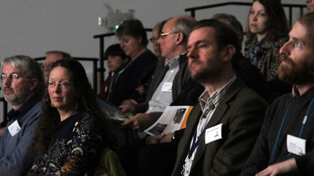 The audience at the launch of the Suffolk Creating the Greenest County Awards 2015. Photograph Simon