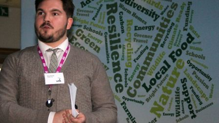 Ross Barrett of Suffolk One at the launch of the Suffolk Creating the Greenest County Awards 2015. P
