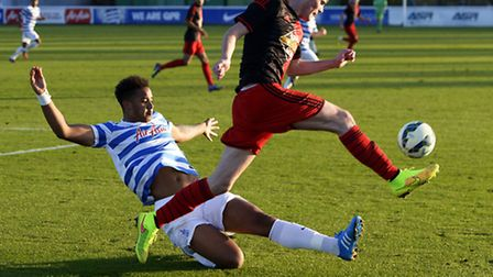 New U's loan signing Cole Kpekawa, in action for QPR Under-21s