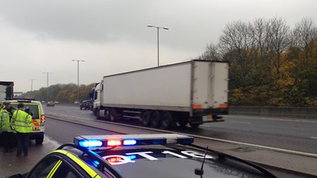 Essex Police patrolling the A12 as part of Operation Nash