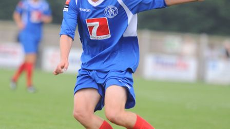 Leiston's Tom Winter has scored four goals in his last three games for the Blues