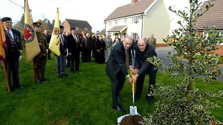 Suffolk Housing officially opening its new five home scheme in Whepstead, named after William Flack