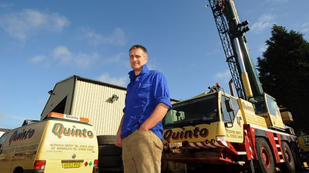 Oliver Arnold of Spring Farm Partnership who has bought out Quinto Crane & Plant.