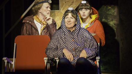 Marjorie Yates, Clare Burt and Evelyn Hoskins in This is My Family by Tim Firth which attracted larg