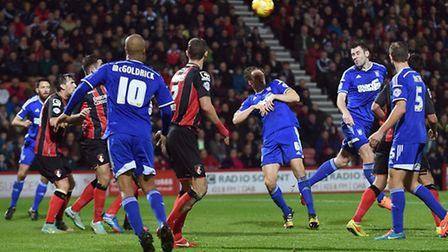 Daryl Murphy scores Ipswich's second half equaliser at Bournemouth