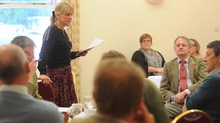 Minette Batters, deputy president of the National Farmers' Union addresses the Suffolk Annual Count
