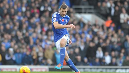 Tommy Smith in action for Ipswich Town