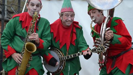 The Swervy World singing elves performed at the Elveden Estate Christmas fair at the weekend