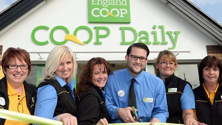 The re-opening of the East of England Co-op store at Rosehill, Ipswich, following its recent refurb
