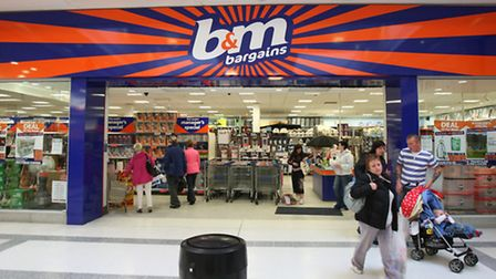 A B&M store which occupies a former Woolworth's branch.