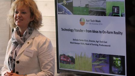 Belinda Clarke holds a workshop at the Innovation for Agriculture East Conference at Trinity Park. P