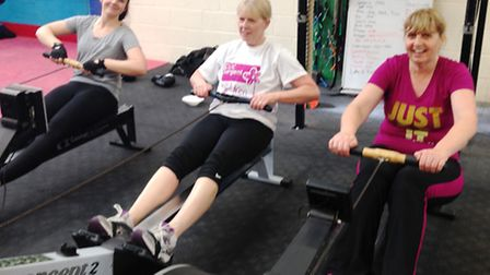 Rowing with Santa at Grange Fitness and Performance Centre