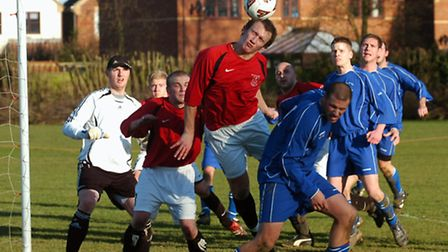 Melton St Audrys (red) in action in 2008