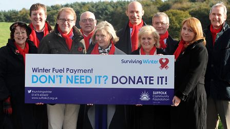 The launch of the Surviving Winter appeal at the Suffolk Community Foundation in Wherstead.