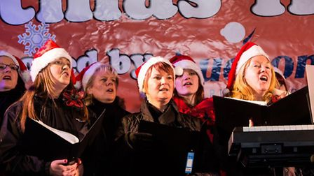 Last year's Christmas lights switch-on in Stowmarket