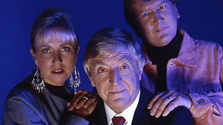 Sarah Greene, Michael Parkinson and Mike Smith, the 'presenting' team from 1992's Ghostwatch (Pic: B