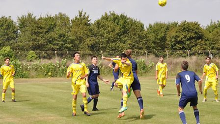 Aldebrurgh Town (yellow) in action this season