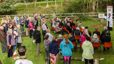 A dedication service is held in Colne Engaine to mark the unveiling of a new gate at the village's w