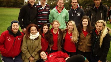 Dunmow Young Farmers at the rugby competition.
