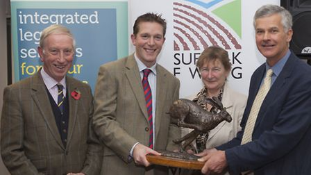Winners of the Tim Sloane Award; David and Patrick Barker of E.J Barker & Sons with judges Genevieve