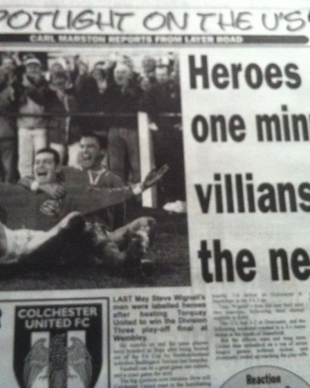 How the Green U'n newspaper looked back on the U's defeat at Bedlington Terriers in 1998