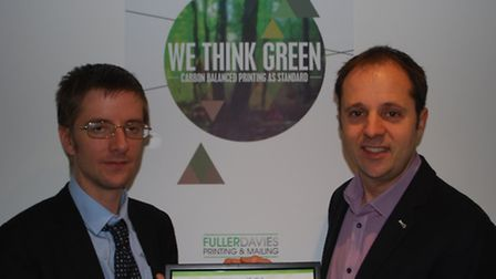 Ned Harrison, green economy officer at Suffolk County Council, left, and Neil Stones, managing direc