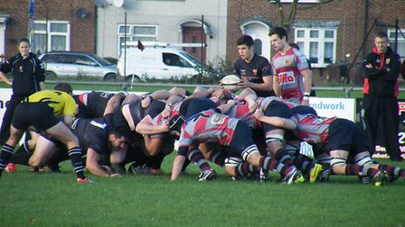 Matt Wadling ready to feed the scrum for Colchester