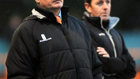 FA Cup Braintree v Newport. Braintree manager Alan Devonshire on the sidelines.