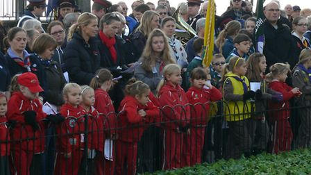 More than 2,000 people turned out for the Clacton remembrance service