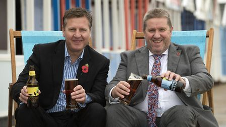 Adnams has joined forces with the East of England Co-op to create two new beers. Pictured are John