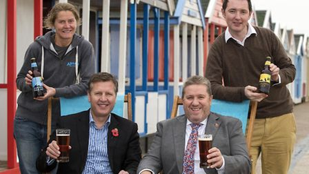 Adnams has joined forces with the East of England Co-op to create two new beers. Pictured are Head B