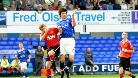 Hadleigh United's George Clarke in his young Ipswich Town days