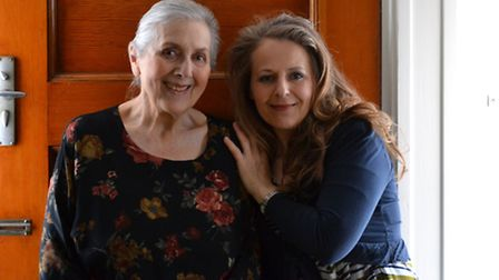 Naomi Jaffa and her mother on Jean's 87th birthday