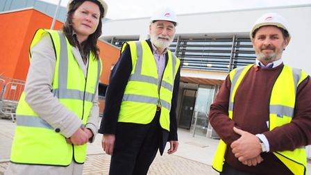 A look round the new Sudbury Health Centre which is due to open in January. Left to right, Isabel C