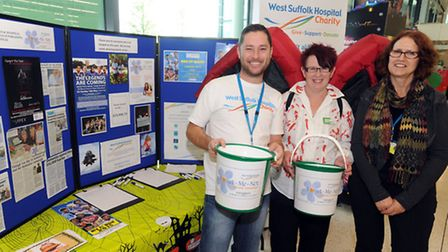Dave Gooderham, Michelle Frost (ASDA) and Maggie Woodhouse (Dementia Trainer WS Hospital)(right) are