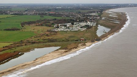 The aftermath of the tidal surge at Benacre