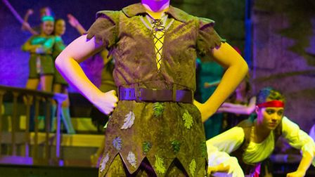 Karl Lankester as Peter Pan in The Co-op Juniors Theatre Company stage Christmas Spectacular in Neve