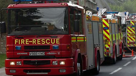 Crews were called to the crash in Weeley