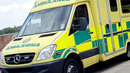 Ambulance crews were called after a man sustained a spinal injury
