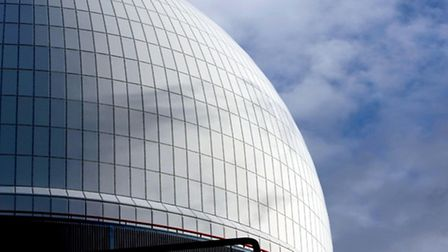 The reactor dome of Sizewell B Nuclear Power Station