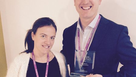Carla Pinto, membership officer, and Dr Ed Garratt, chief operating officer, NHS West Suffolk Clinic