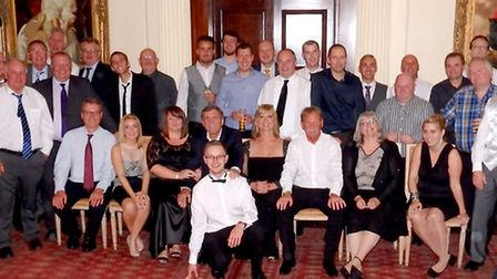 Staff from Harwich-based packaging specialist, PLF International at the celebraton marking its 20th