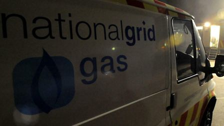 National Grid responded to the gas leak on Sunday evening