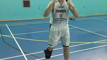 Ipswich's Colin Dockrell celebrates their victory at the London Pioneers