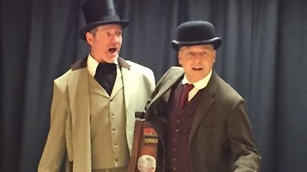 Phileas Fogg and his manservant Passepartout in Harleston Players Adaptation of Around the World in