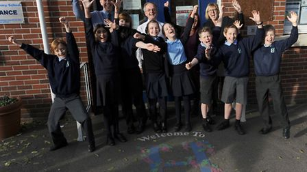 Hamilton Primary School in Colchester celebrate a strong set of SATs results.
