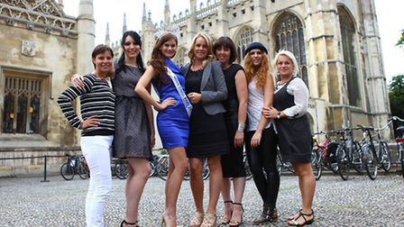 Datsa Gaile (centre) with Miss England 2014 Carina Tyrrell and others from For Any Woman magazine.