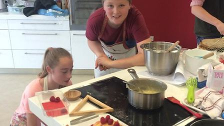 Junior Bake Off - Gipping Valley members with their amazing swiss roll and sugar work
