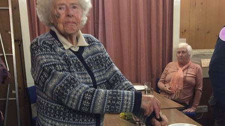 Ann Ward, celebrating her 100th birthday in November. Picture: The Royal British Legion Diss branch