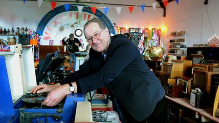 Aladdin's cave: Paul Goodchild at the Old Chapel in Monks Eleigh.